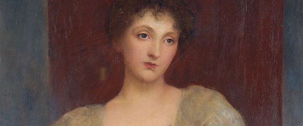 Portrait of Norah Bourke - George Frederic Watts