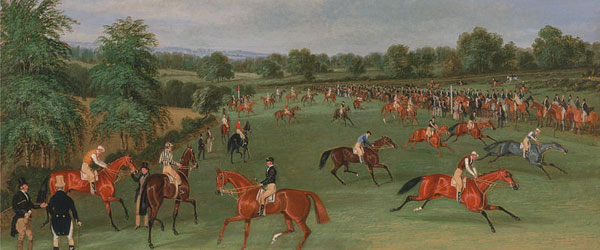 Epsom Races: Preparing to Start - James Pollard (1792 - 1867)